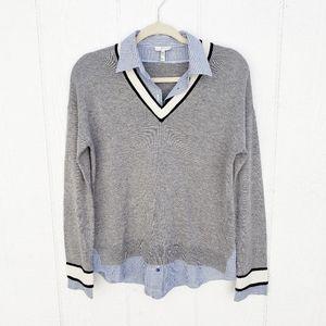 Joie Belva Heather Grey Pull Over Sweater Wool